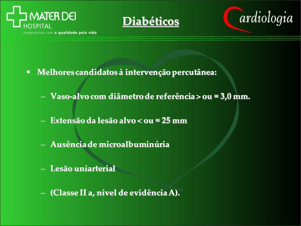 Diabéticos Melhores candidatos à intervenção percutânea: