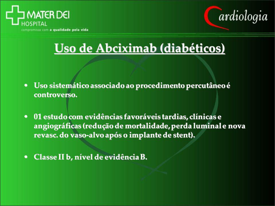 Uso de Abciximab (diabéticos)