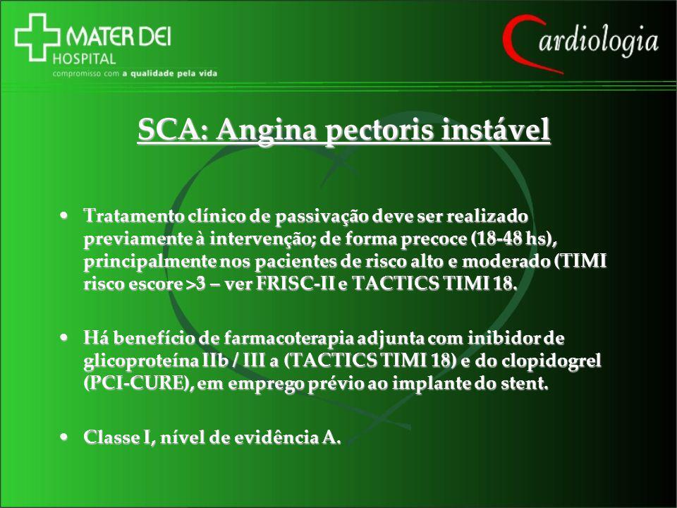 SCA: Angina pectoris instável