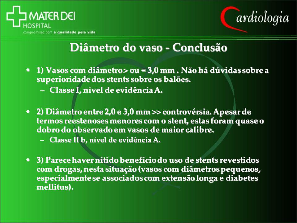 Diâmetro do vaso - Conclusão