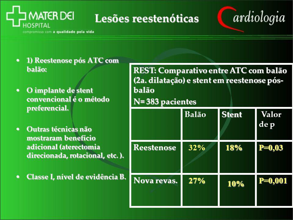 Lesões reestenóticas 10%