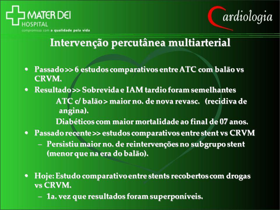 Intervenção percutânea multiarterial
