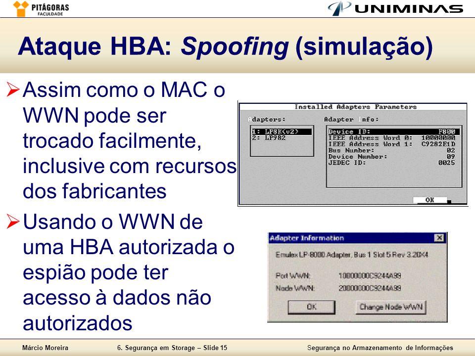 Ataque HBA: Spoofing (simulação)