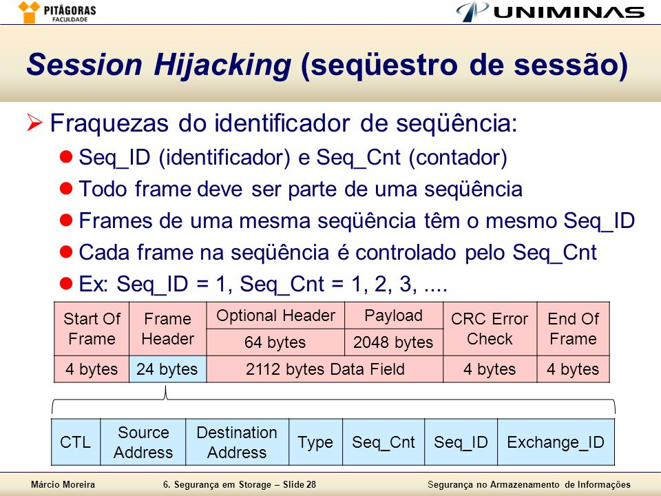 Session Hijacking (seqüestro de sessão)