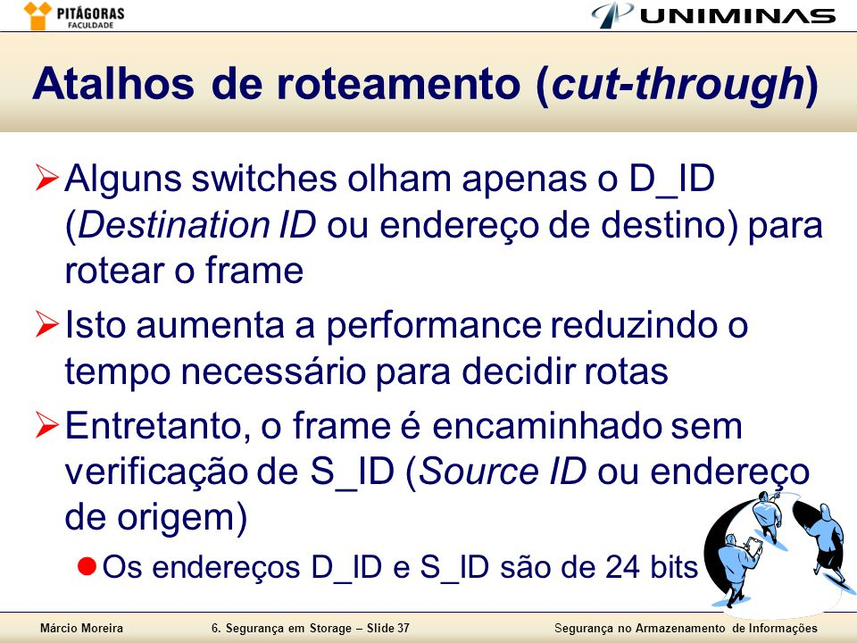 Atalhos de roteamento (cut-through)