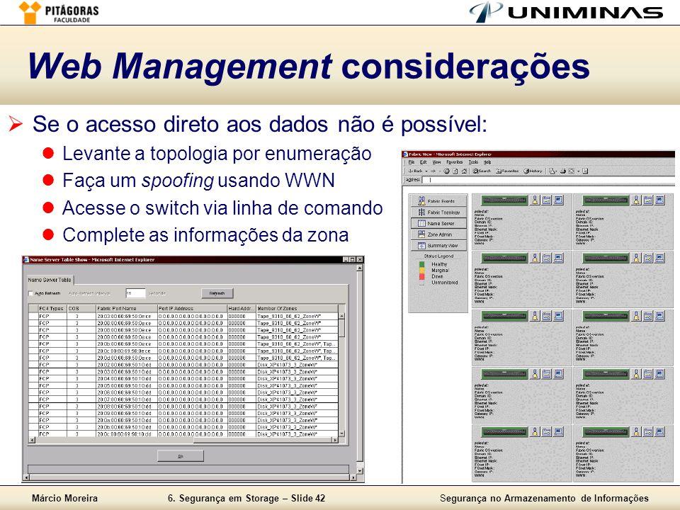 Web Management considerações