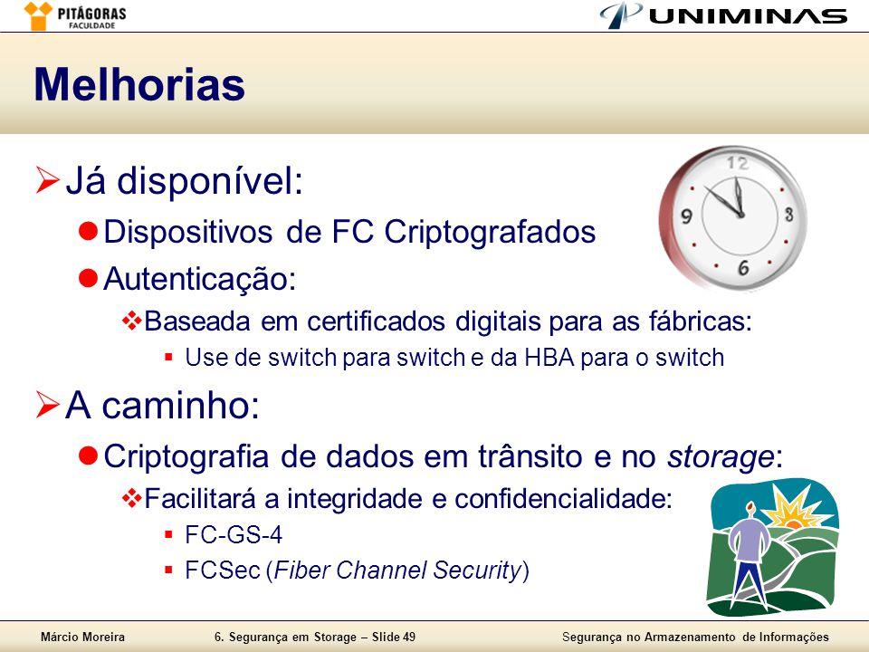 Melhorias Já disponível: A caminho: Dispositivos de FC Criptografados