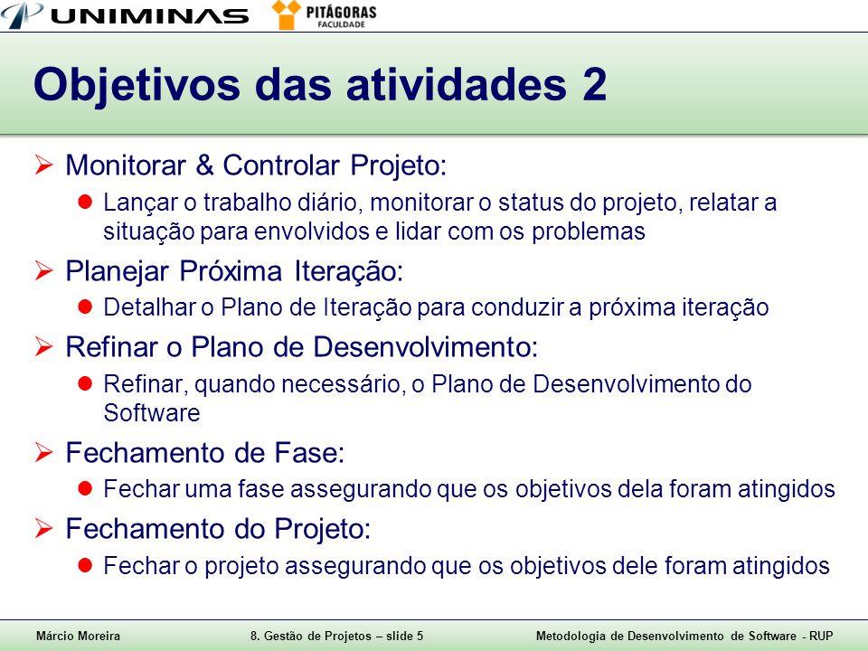 Objetivos das atividades 2