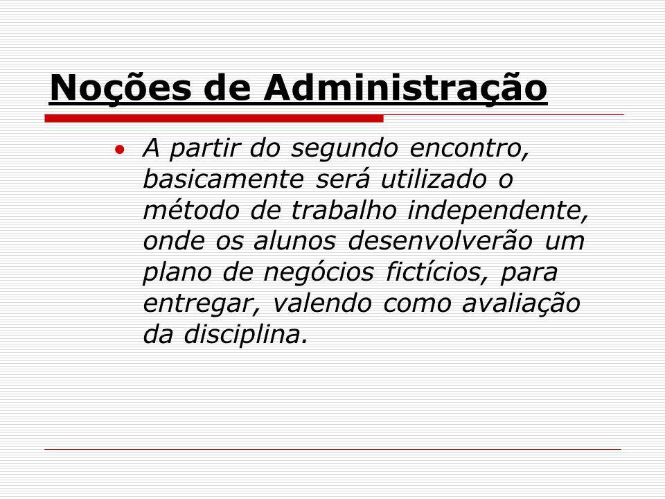 Noções de Administração