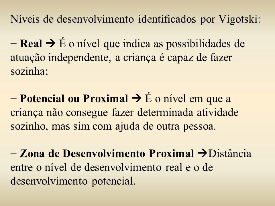 Níveis de desenvolvimento identificados por Vigotski: