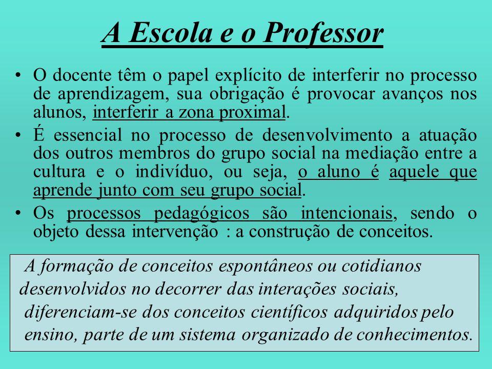 A Escola e o Professor