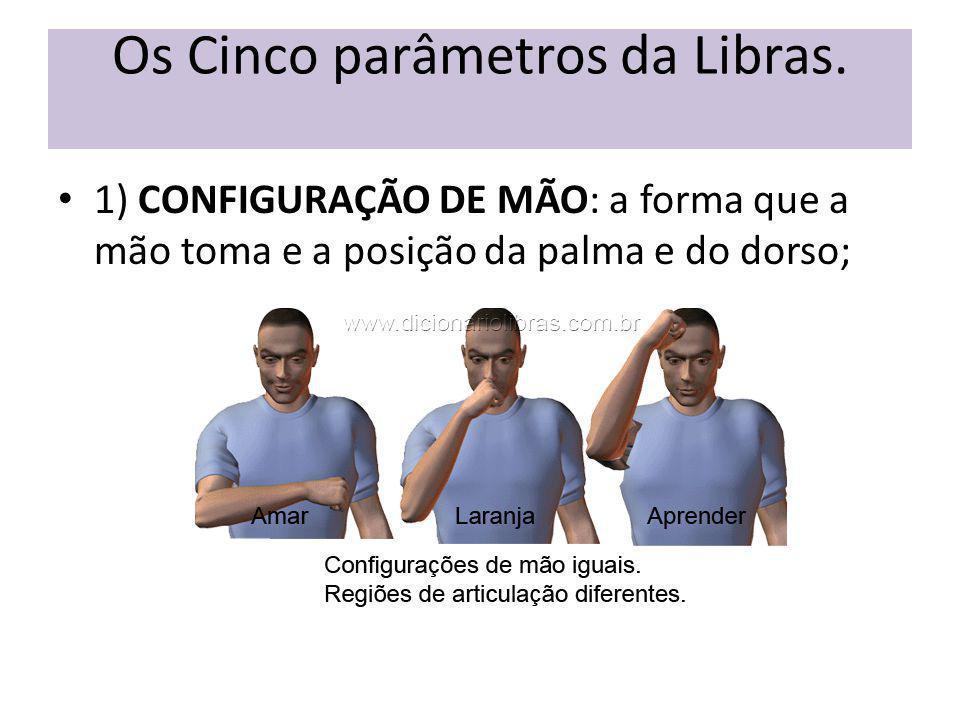 Os Cinco parâmetros da Libras.