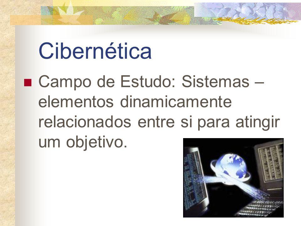 Cibernética Campo de Estudo: Sistemas – elementos dinamicamente relacionados entre si para atingir um objetivo.