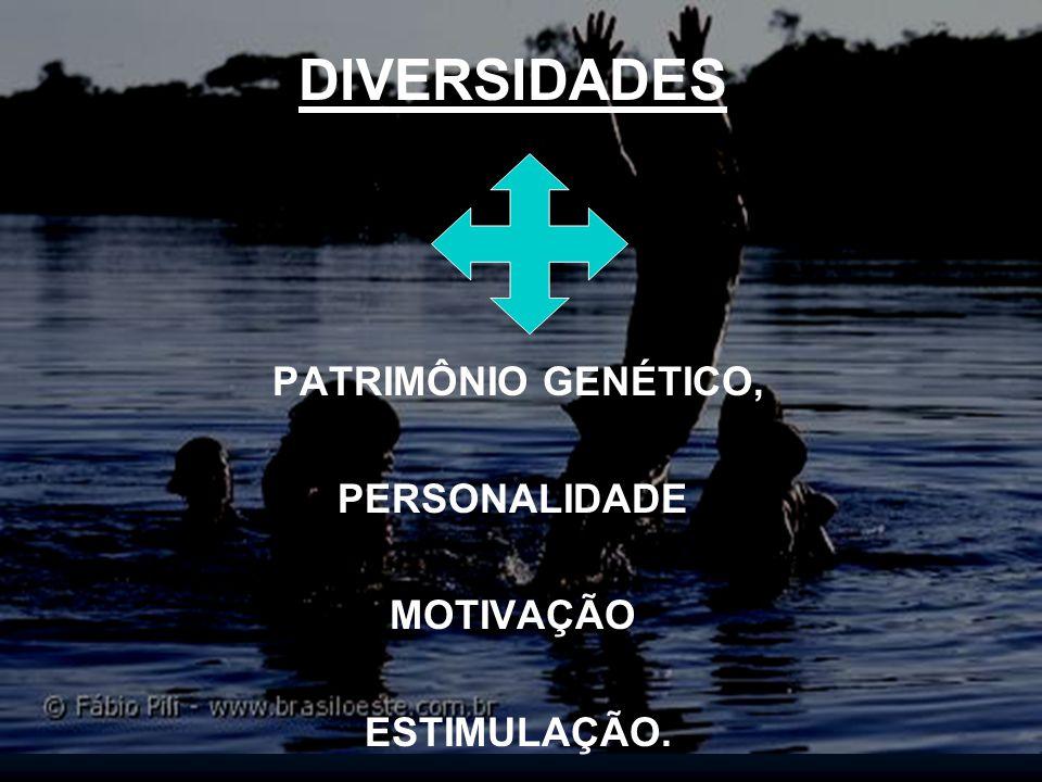 DIVERSIDADES PATRIMÔNIO GENÉTICO, PERSONALIDADE MOTIVAÇÃO ESTIMULAÇÃO.