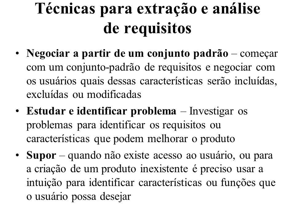 Técnicas para extração e análise de requisitos