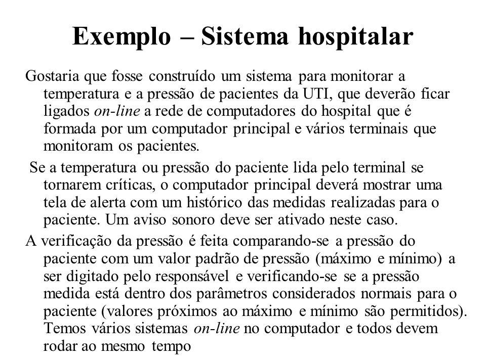 Exemplo – Sistema hospitalar