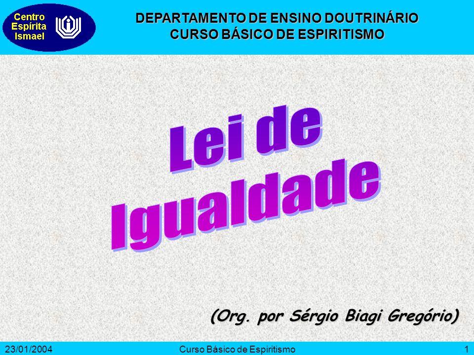 Lei de Igualdade (Org. por Sérgio Biagi Gregório)