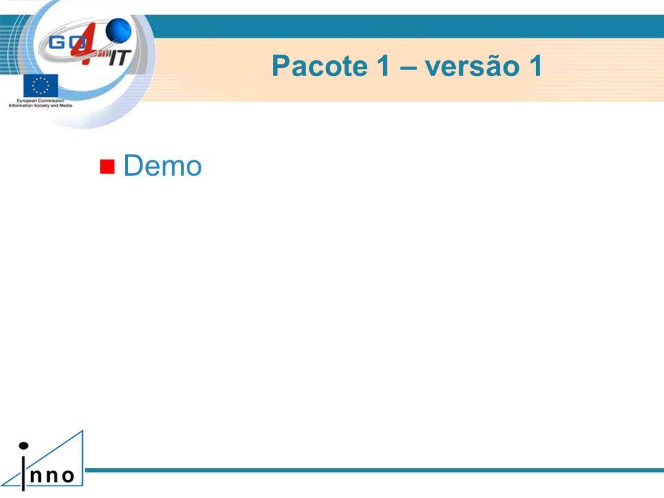 Pacote 1 – versão 1 Demo