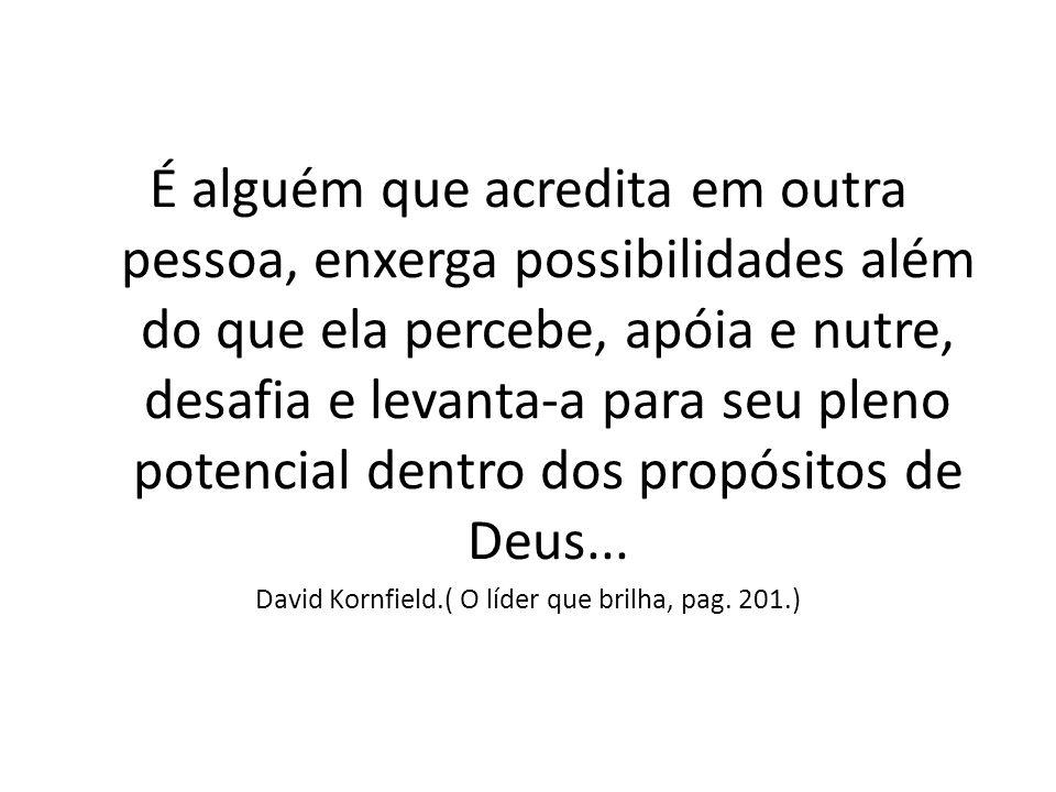 David Kornfield.( O líder que brilha, pag. 201.)