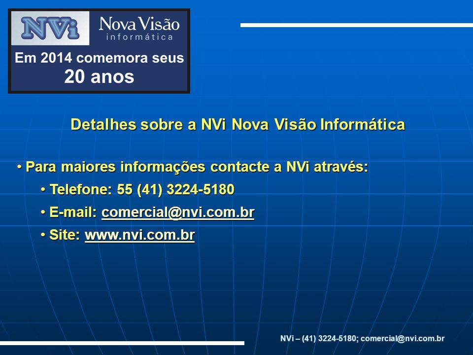 Detalhes sobre a NVi Nova Visão Informática