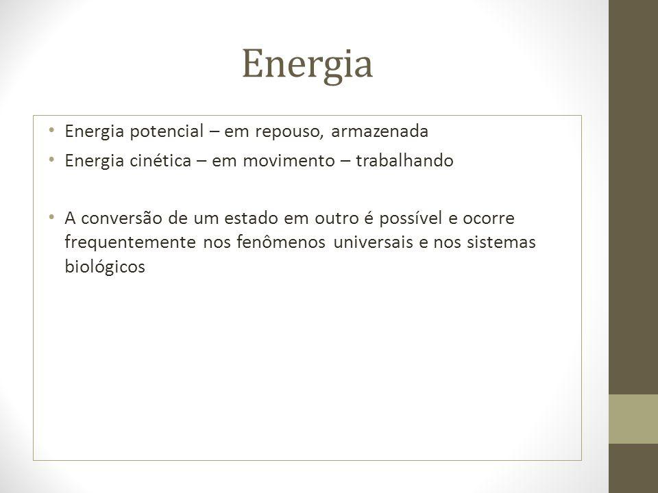 Energia Energia potencial – em repouso, armazenada