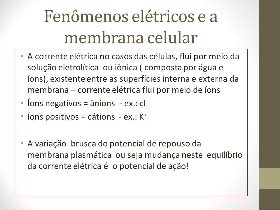 Fenômenos elétricos e a membrana celular
