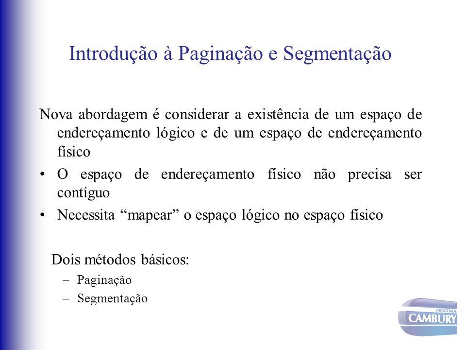 Introdução à Paginação e Segmentação