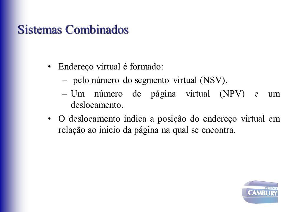 Sistemas Combinados Endereço virtual é formado: