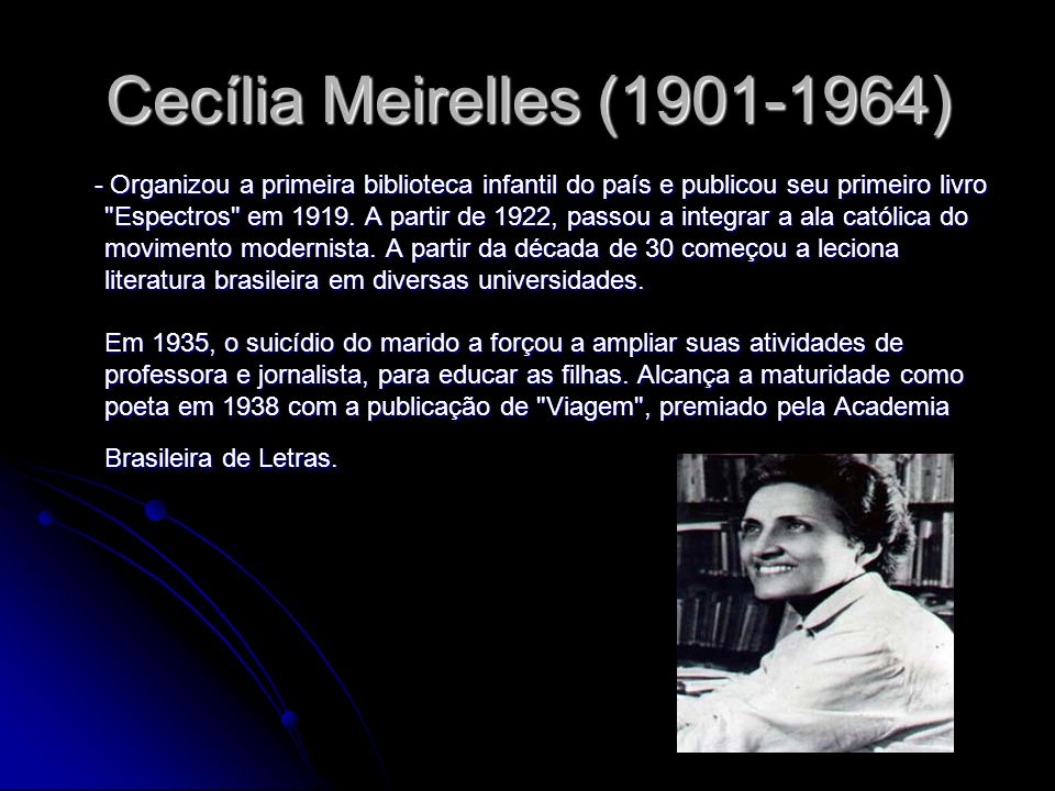 Cecília Meirelles (1901-1964)