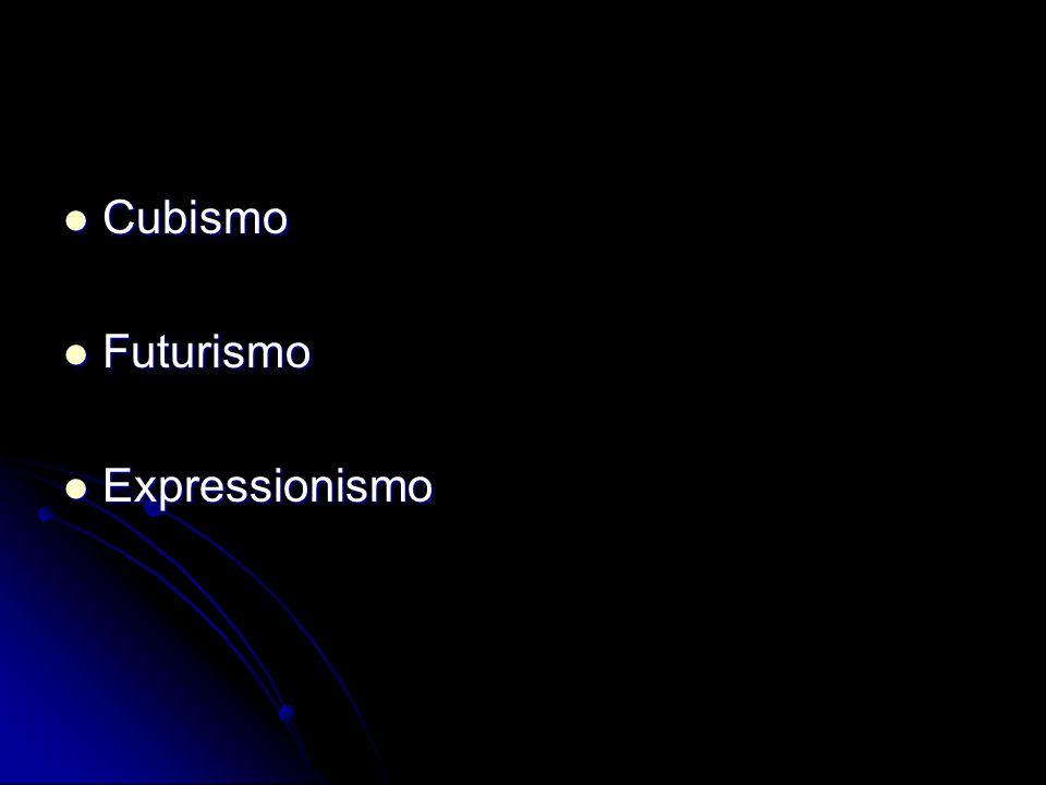 Cubismo Futurismo Expressionismo