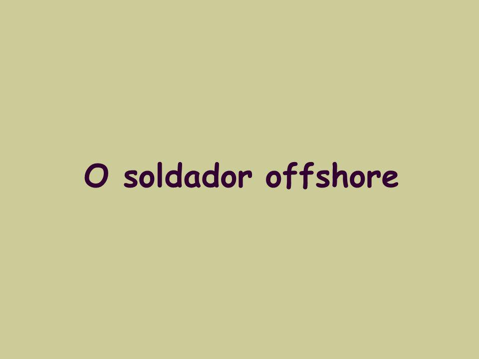 O soldador offshore