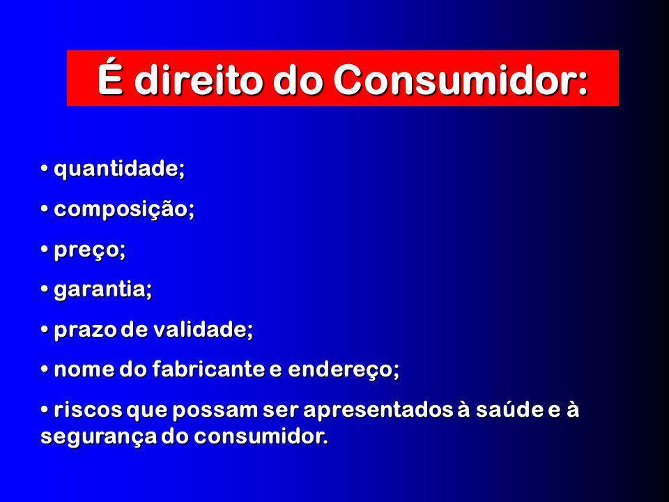 É direito do Consumidor: