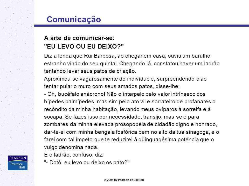 Comunicação A arte de comunicar-se: EU LEVO OU EU DEIXO