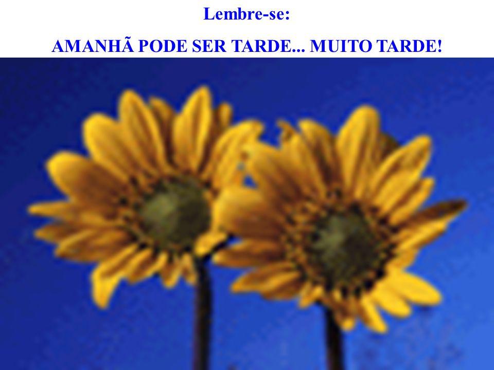 AMANHÃ PODE SER TARDE... MUITO TARDE!
