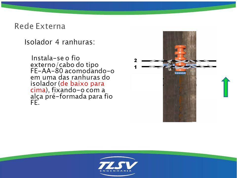 Rede Externa Isolador 4 ranhuras: