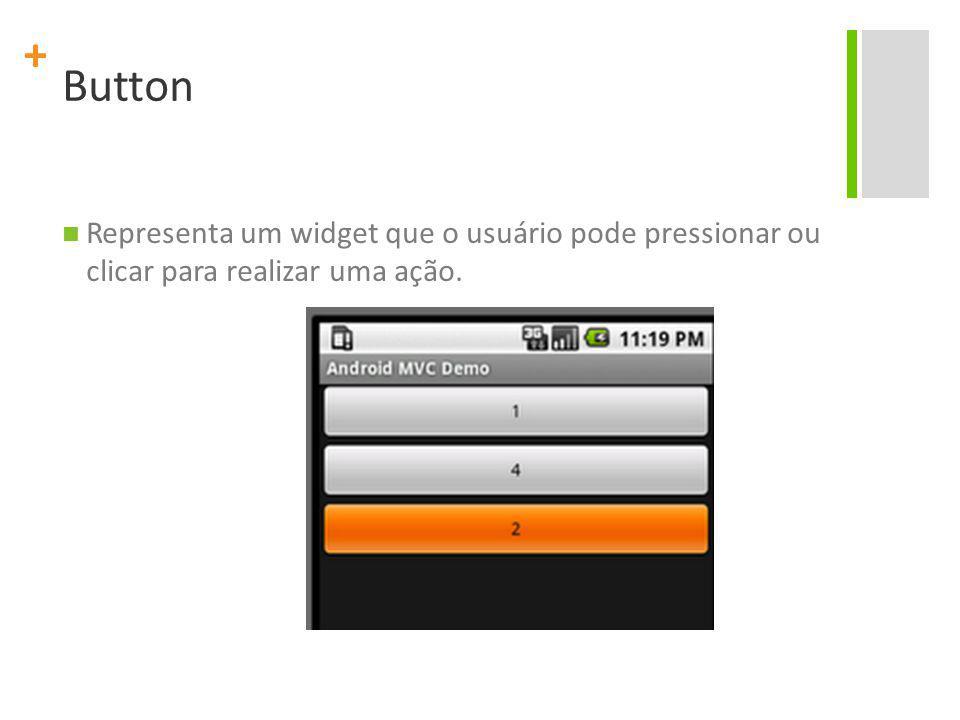 Button Representa um widget que o usuário pode pressionar ou clicar para realizar uma ação.