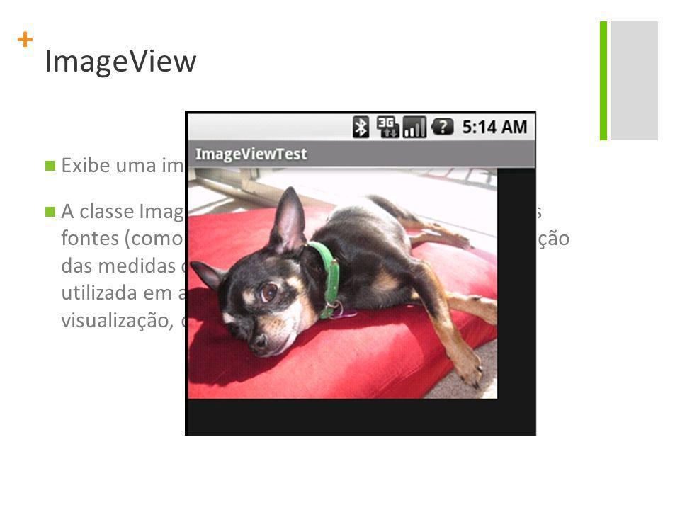 ImageView Exibe uma imagem arbitrária, como um ícone.