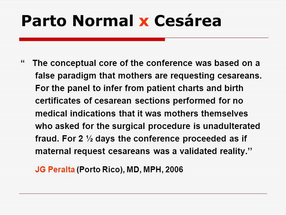 Parto Normal x Cesárea