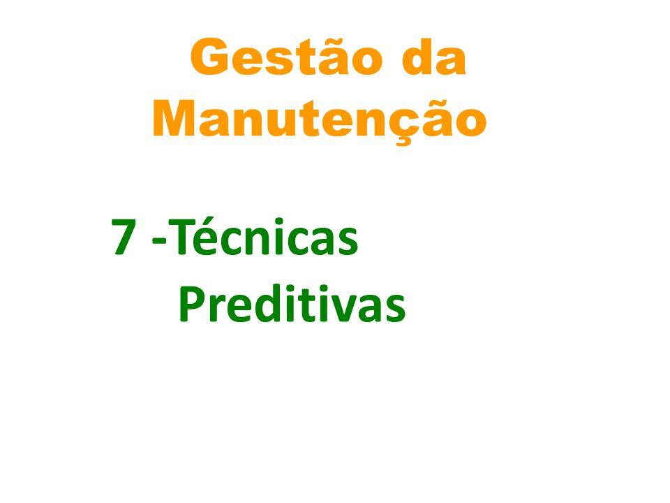 Gestão da Manutenção 7 -Técnicas Preditivas