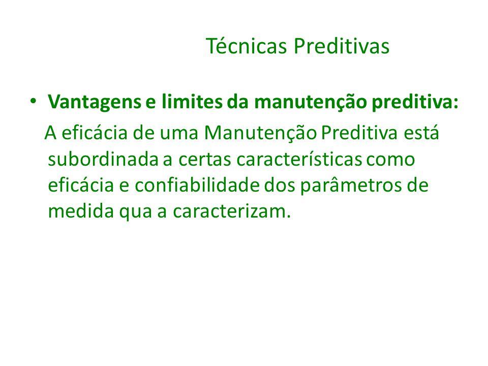 Técnicas Preditivas Vantagens e limites da manutenção preditiva: