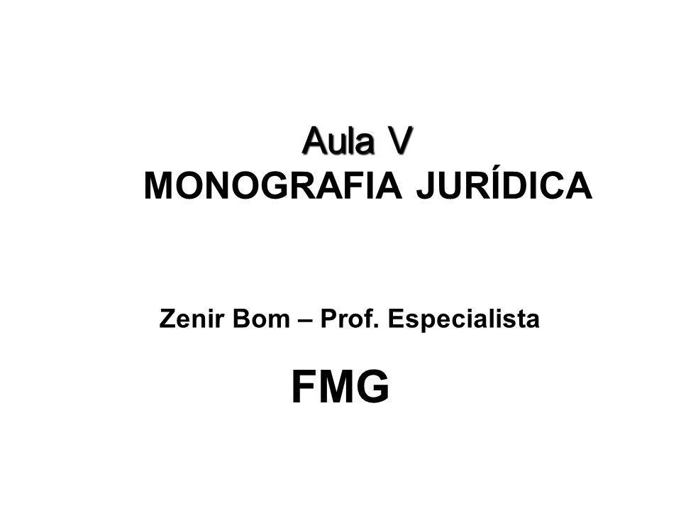 Aula V MONOGRAFIA JURÍDICA