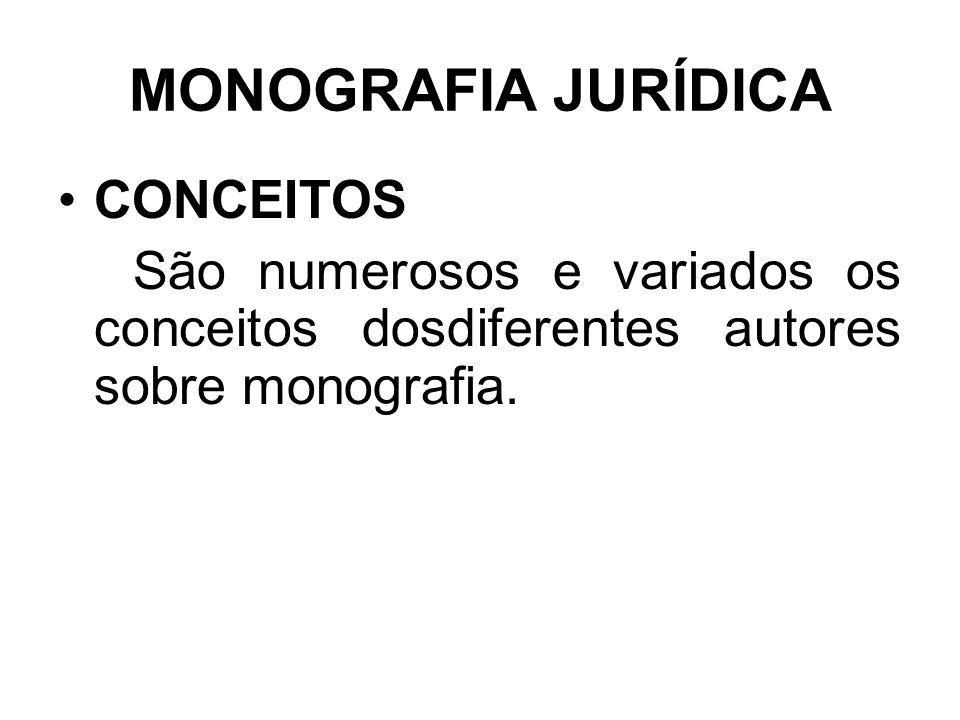 MONOGRAFIA JURÍDICA CONCEITOS