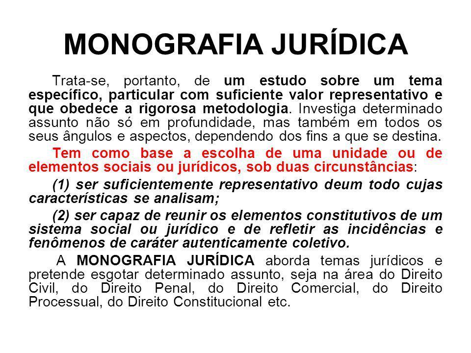 MONOGRAFIA JURÍDICA
