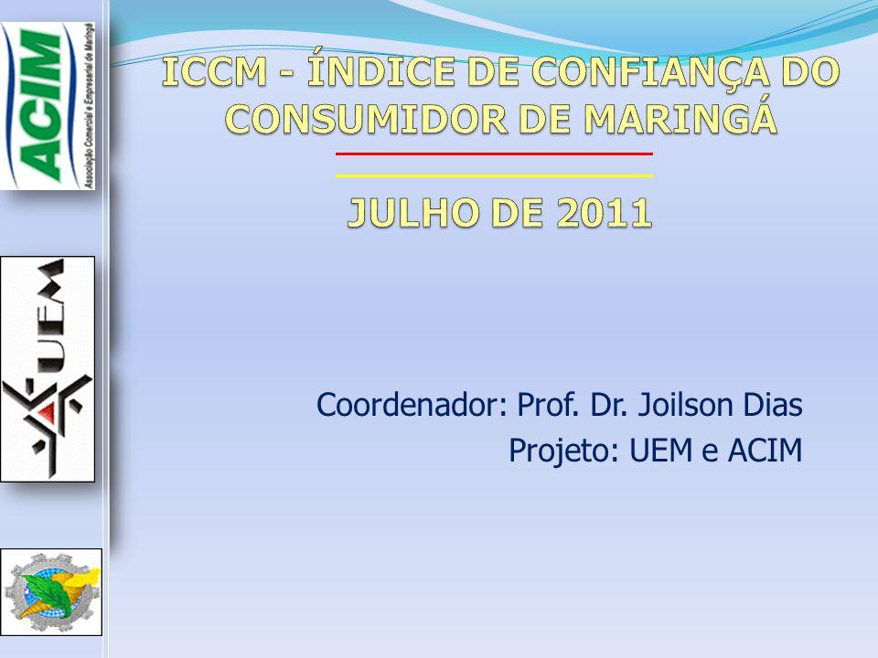 ICCM - ÍNDICE DE CONFIANÇA DO CONSUMIDOR DE MARINGÁ JULHO DE 2011