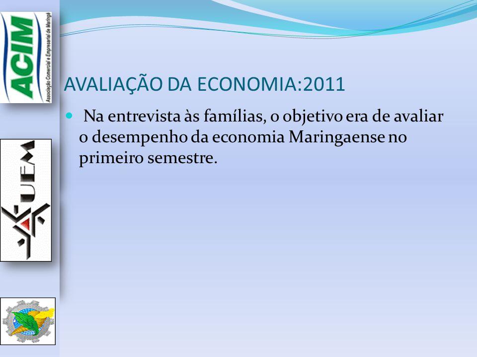 AVALIAÇÃO DA ECONOMIA:2011