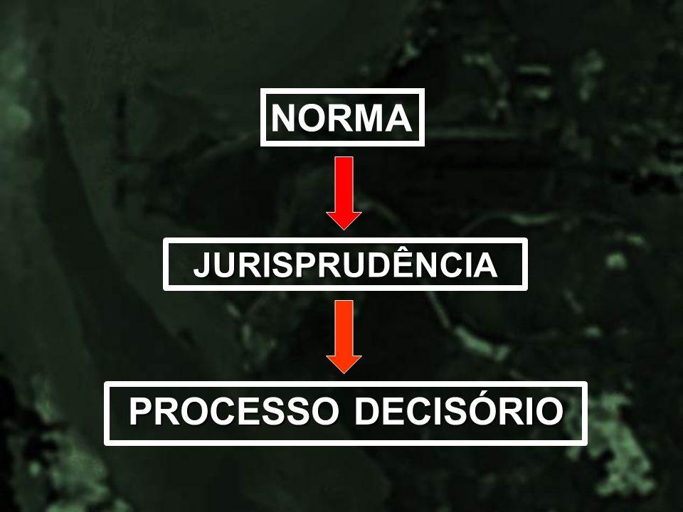NORMA JURISPRUDÊNCIA PROCESSO DECISÓRIO