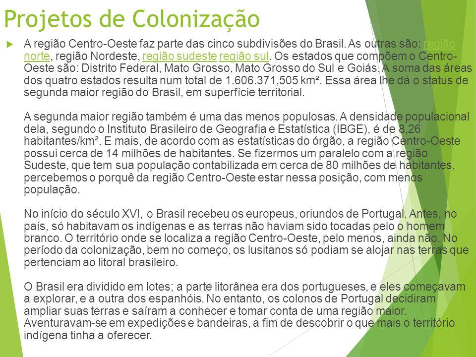 Projetos de Colonização