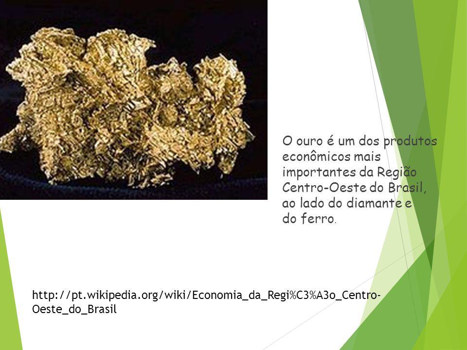O ouro é um dos produtos econômicos mais importantes da Região Centro-Oeste do Brasil, ao lado do diamante e do ferro.