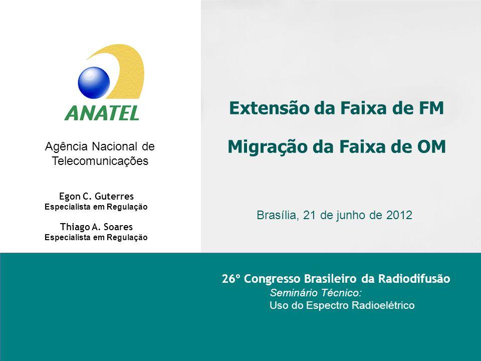 Extensão da Faixa de FM Migração da Faixa de OM