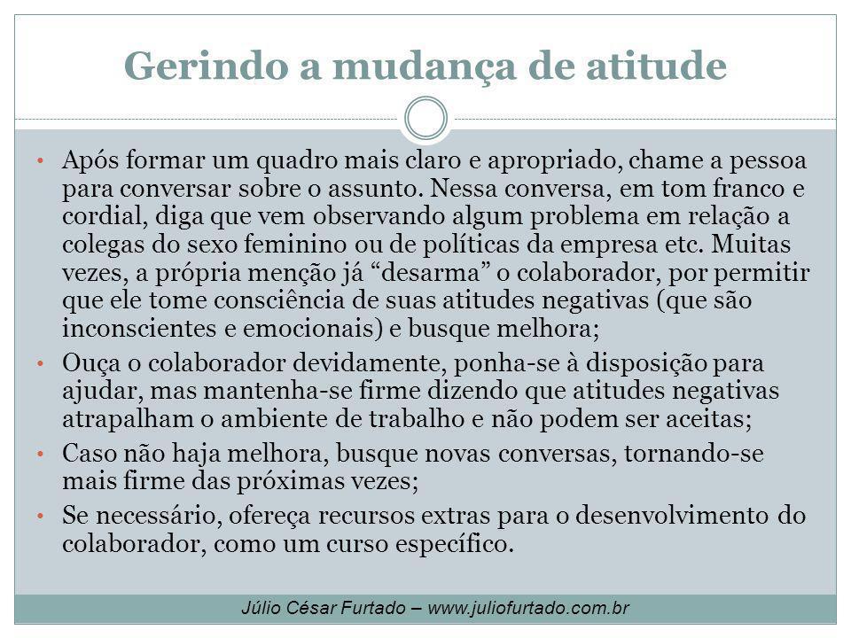 Gerindo a mudança de atitude